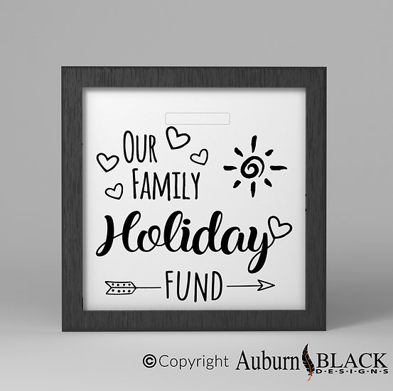 Our Family Holiday Fund Frame Vinyl Decal