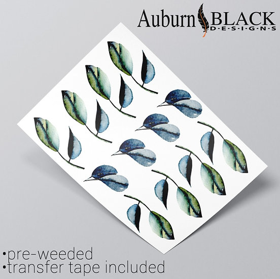 Eucalyptus leaf embellishment vinyl sticker ornaments