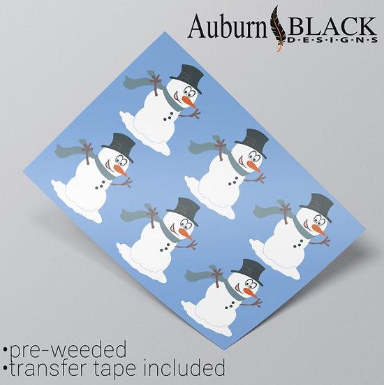 Happy Snowmen Vinyl Stickers