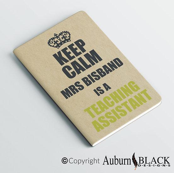 Keep calm teaching assistant notebook Vinyl Decal