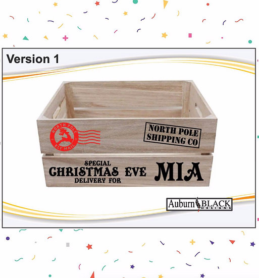Personalised Christmas Crate Vinyls