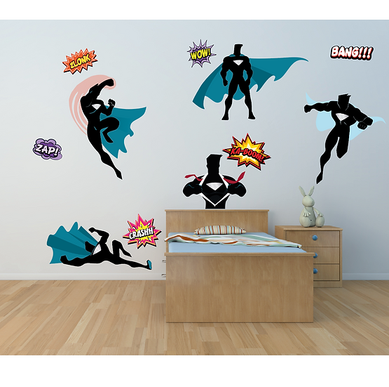 Superhero Wall Art Stickers