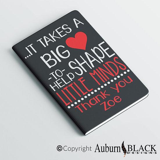Big Heart (Capitals) Teacher's Notebook Vinyl