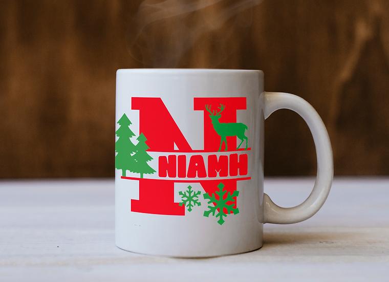 Personalised Christmas Monogram Mug Vinyl
