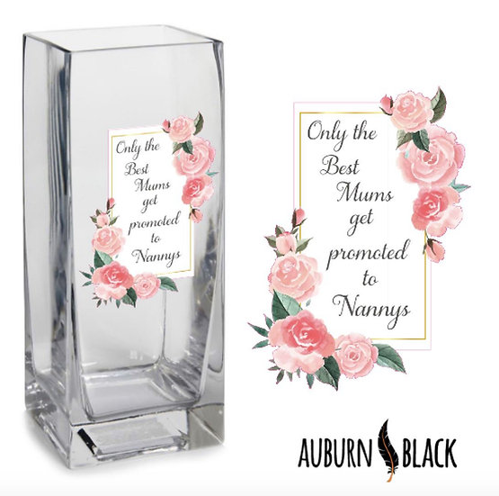 Only the best mums get promoted Vase Vinyl