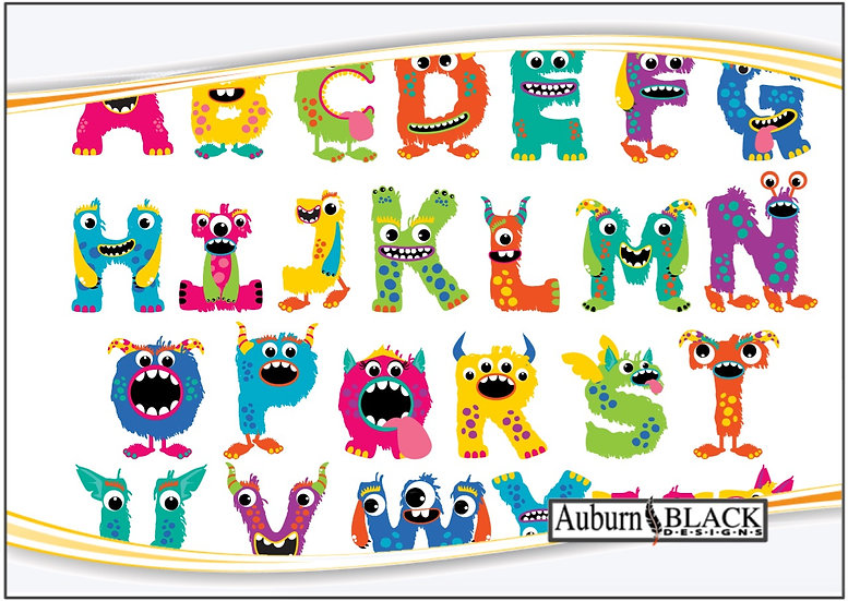 Monster Letters Name Decal