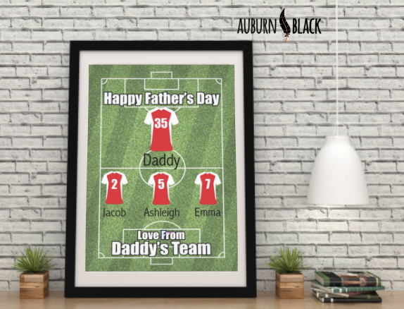 Father's Day Personalised Team Print