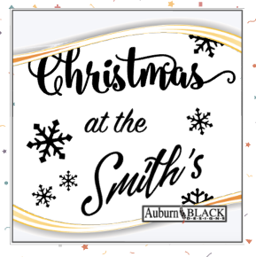 Christmas at the ... vinyl decal