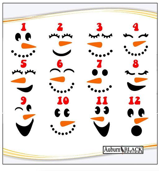 Personalised Snowman Christmas Mug Vinyl
