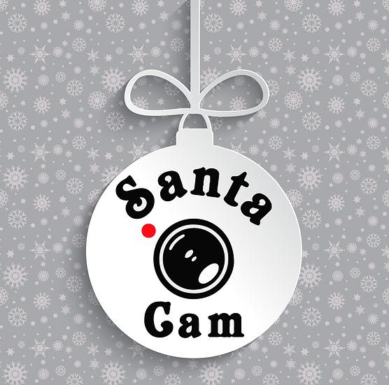 Santa Cam Bauble Vinyl Decal