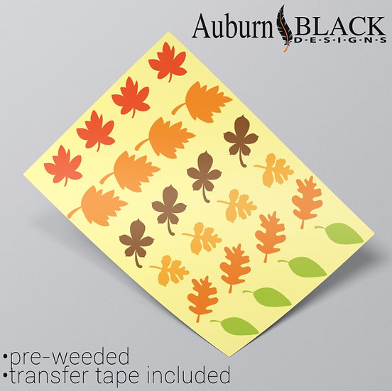 Autumn Leaves Vinyl Stickers
