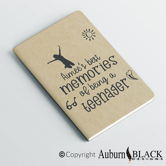Personalised Best Memories of being a teenager... notebook Vinyl Decal