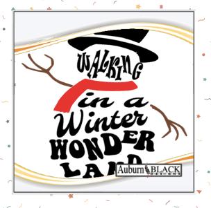 Walking in a Winter Wonderland vinyl decal