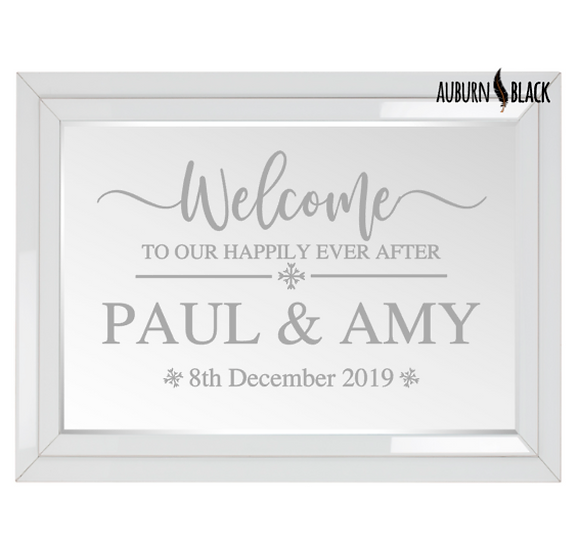 Welcome to our Happily Ever After - Swirl design