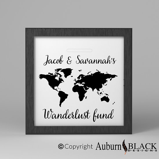 Personalised Wanderlust fund Frame Vinyl Decal