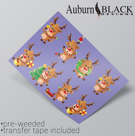 Funny Reindeer Christmas Stickers