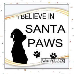 I Believe in Santa Paws vinyl decal