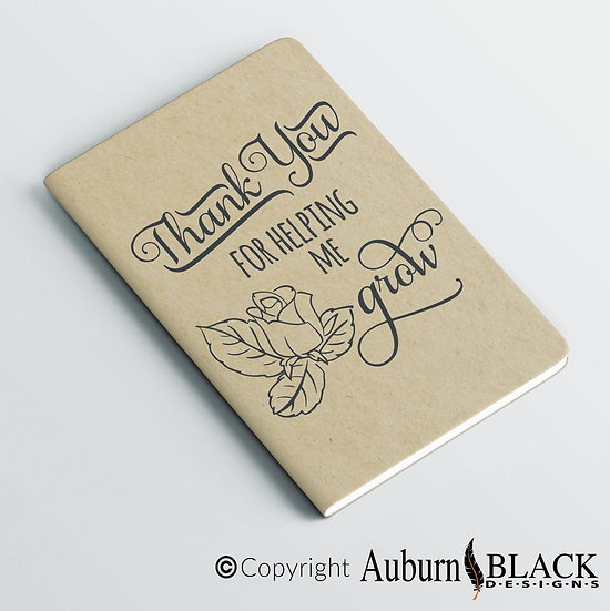 Thank You for helping me with flower Teacher's Notebook Vinyl Decal