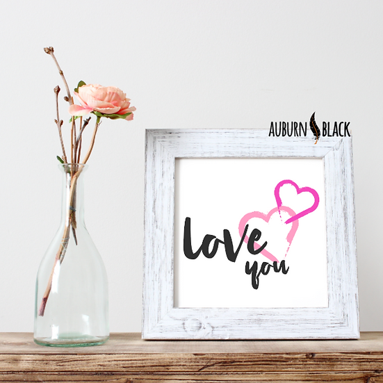 Love You mini print