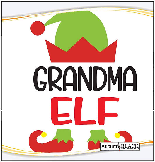 Grandma Elf Heat Transfer Vinyl Sticker
