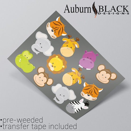 Animal Faces Stickers