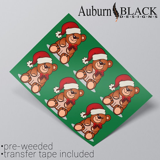 Christmas Bear Vinyl Stickers