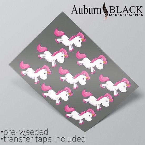 Bright Happy Unicorn Vinyl Stickers