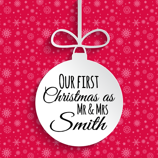 Our First Christmas as... Bauble Vinyl Decal