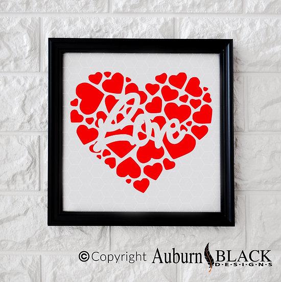 Love heart frame vinyl decal