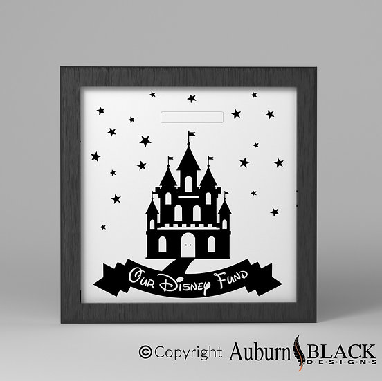 Disney holiday castle Fund frame vinyl decal