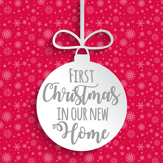 First Christmas in our New Home Bauble Vinyl Decal
