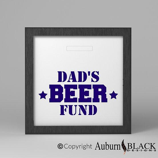 Dad's Beer fund  frame Vinyl Decal