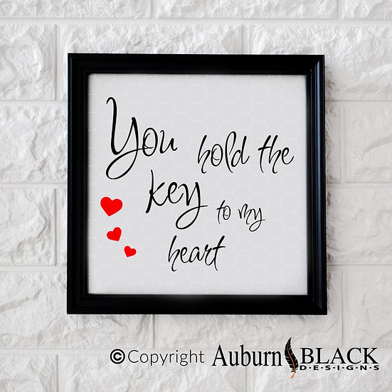 You Hold The Key Vinyl Decal