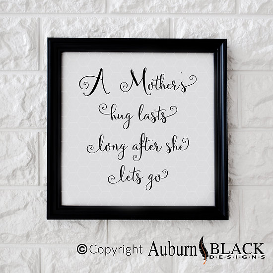 A Mother's Hug Vinyl Decal