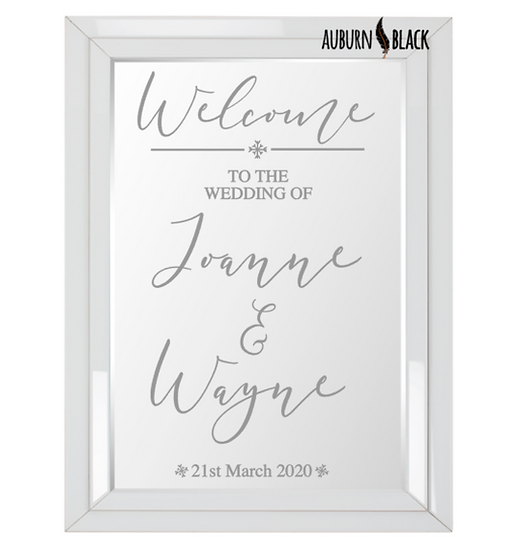 Welcome to the wedding of... - Fancy font design