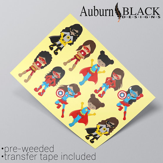 Girl Superhero Stickers