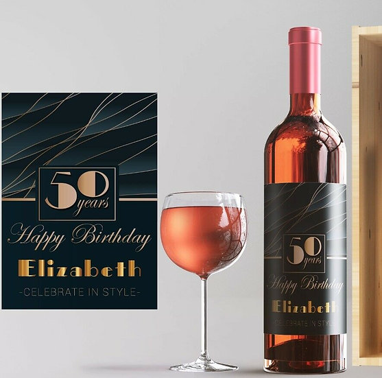 Birthday Personalised Wine or Champagne Bottle
