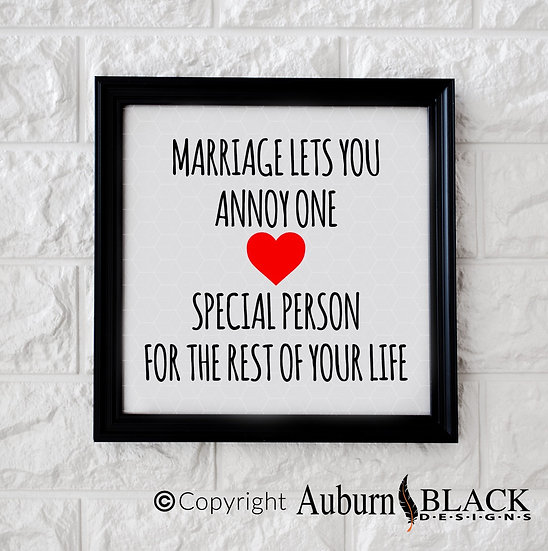 Marriage lets you... funny vinyl decal quote