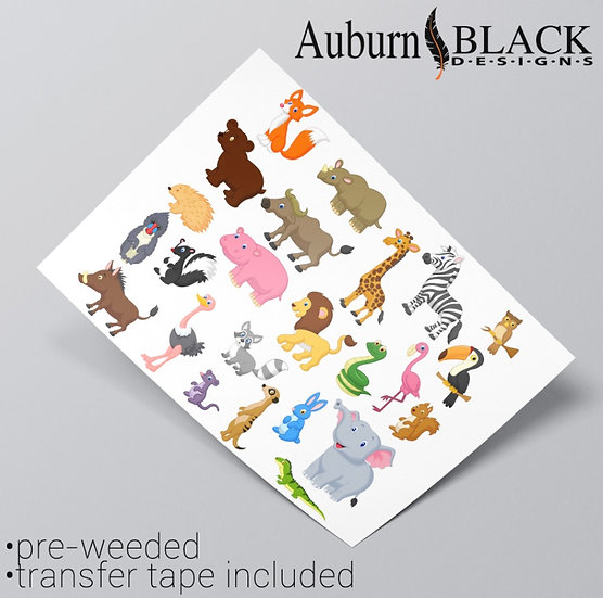 Cartoon Animals Sticker Set