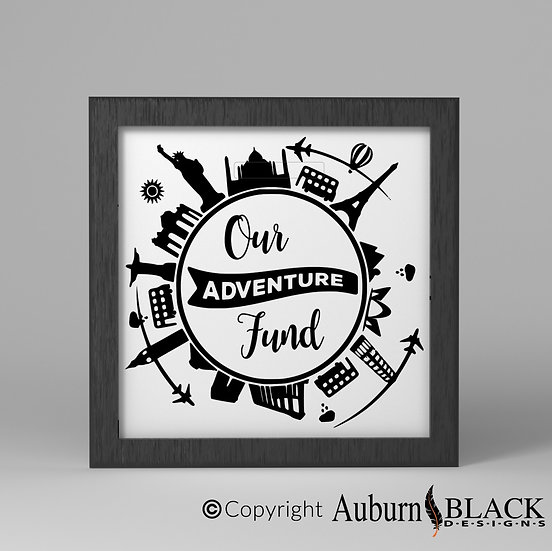 Our Adventure Fund Cities Frame Vinyl Decal