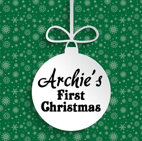 Child's First Christmas Bauble Vinyl Decal