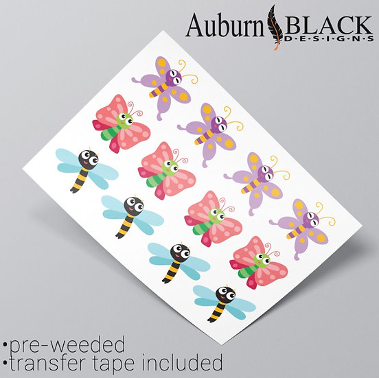 Butterflies and Wasps Vinyl Stickers