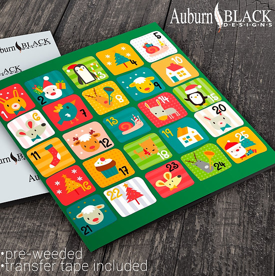 Bright Advent Calendar Stickers Set 1