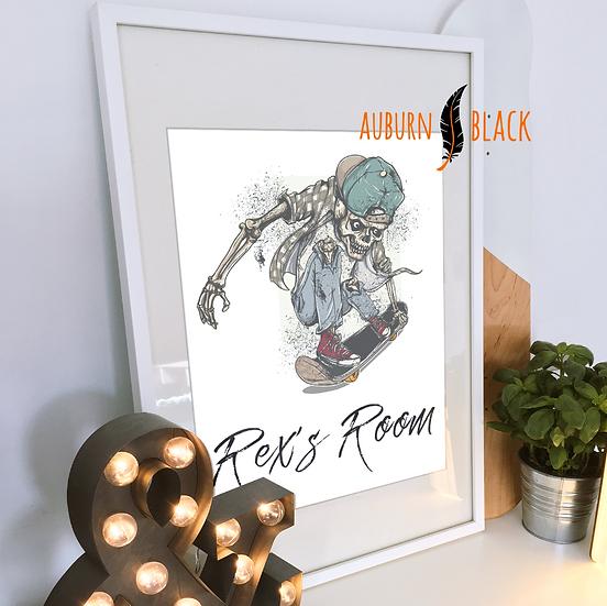Personalised Bedroom Print