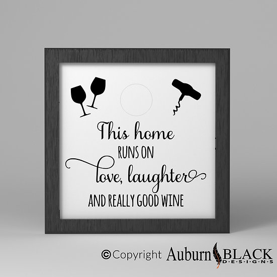 This home runs on, wine bottle cork collection Vinyl Decal