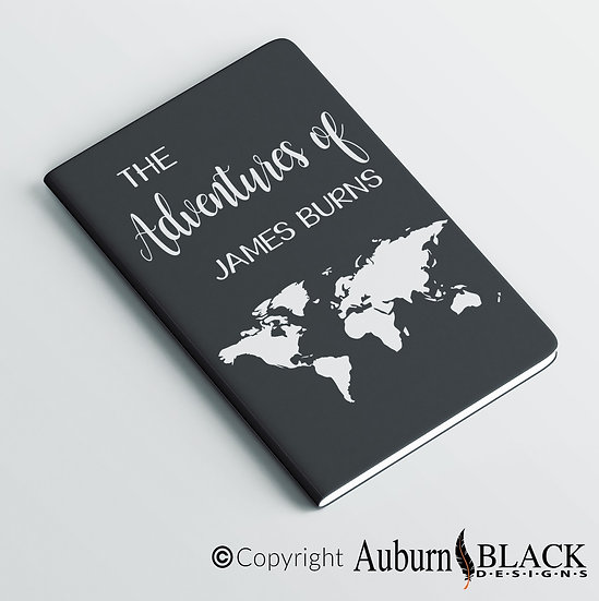 The Adventures of personalised notebook Vinyl Decal