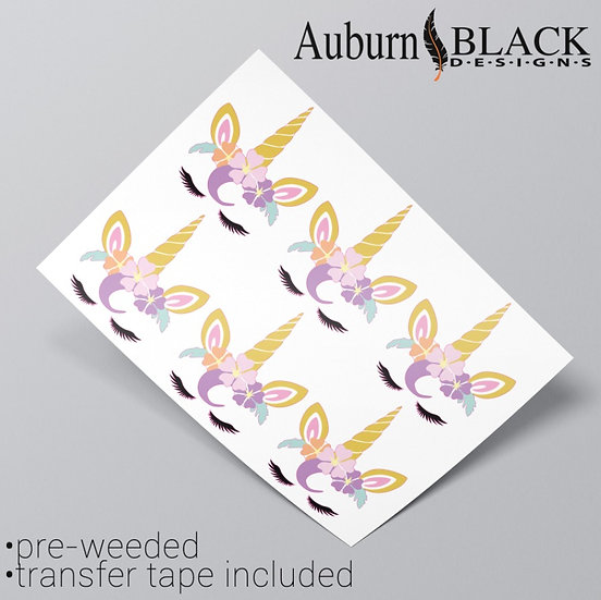 Unicorn Full Colour Vinyl Stickers