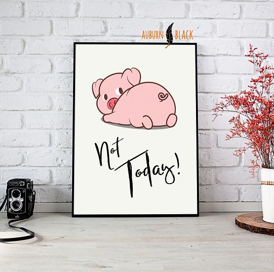 Sulky Pig Print