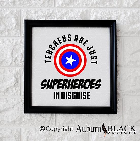 Personalised Superhero Teacher...Vinyl Decal