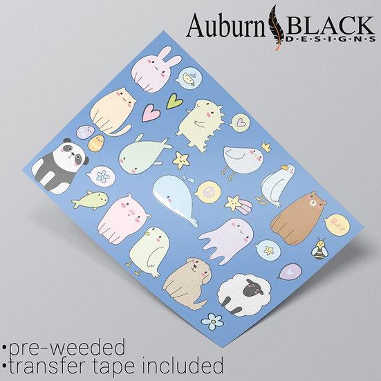 Pastel Animal Stickers